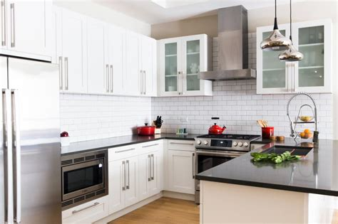 modern white kitchen cabinets contemporary kitchen modern black and white u shaped