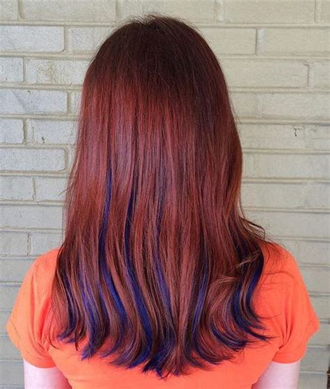 Red Hair With Blue Highlights | 21 trendy hair colors for women to try styles weekly