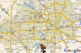 dallas fort worth map travel map