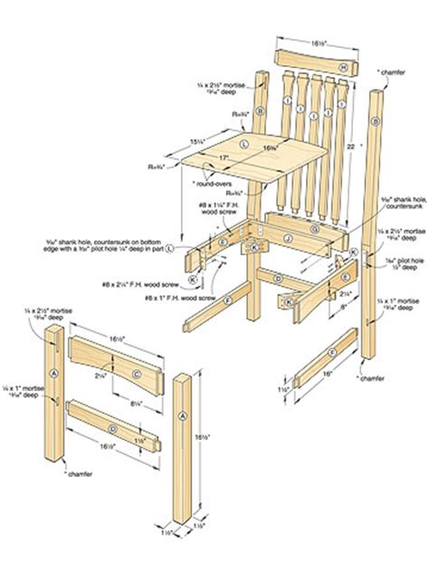 dining room chair plans woodguides