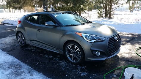 hyundai veloster turbo matte black 2016 hyundai veloster turbo in matte gray pearl
