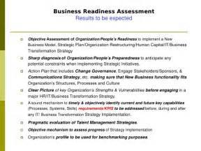 readiness assessment template business readiness assessment ocm platform