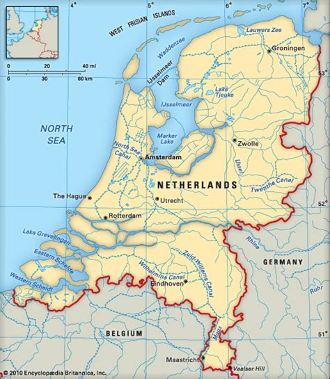 netherlands geography map netherlands encyclopedia children s homework