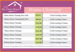 cleaning price list template price list design template cleaning price list design