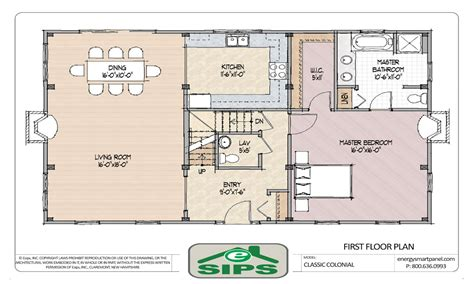 Center Hall Colonial Floor Plan | center hall colonial open floor plans open floor plan