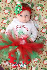 Christmas personalized outfit baby infant girl tutu my first christmas