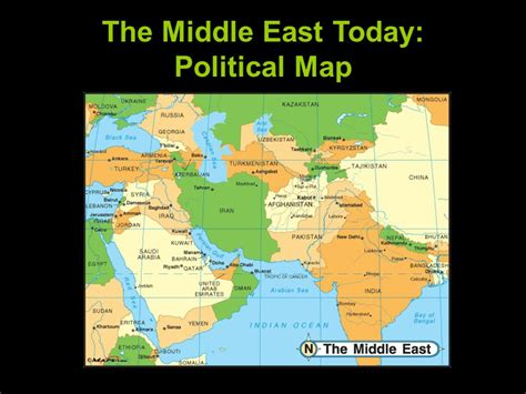 middle east map today the geography of the middle east ppt