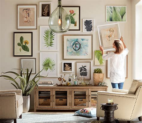 image gallery home wall decor how to create a gallery wall pottery barn
