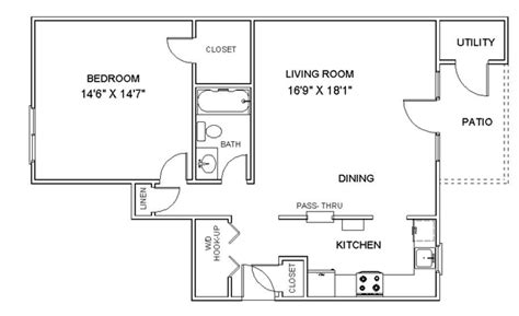 Floor Plans With Photos - apartment floor plans one bedroom apartments in clifton
