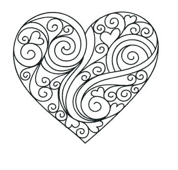 printable coloring pages hearts with vines cozy design heart coloring pages printable 41 valentine