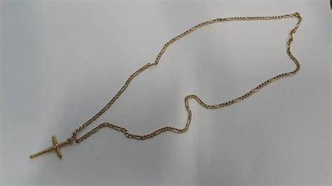 cadena oro 18 kilates hombre cadena de oro 18 kilates con dije cruz yely id 40691