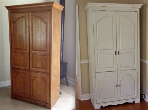 entertainment center makeover on pinterest painting oak before and after entertainment center painted with chalk
