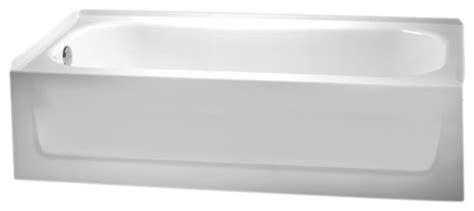 crane bathtubs crane 2725 white 5 left hand armorplus tub modern