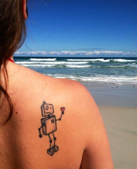 back tattoo easy simple robot back tattoo tattoomagz