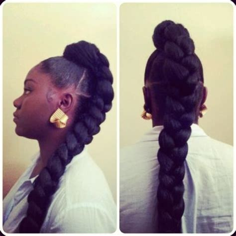 hair pieces to wear with fo hawk hairstyle 17 best images about jumbo braid ponytail on pinterest