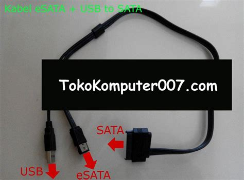 Kabel Hardisk Laptop kabel usb esata to sata menghubungkan hardisk laptop