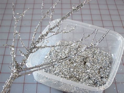 home made decoration pieces holiday decorating making sparkly branches