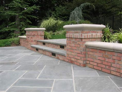 backyard brick patio bbq outdoor kitchens nj built in grill fireplace design ideas