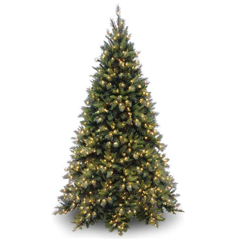 section of pre lit tree out national tree company 7 5 ft fir medium tree with