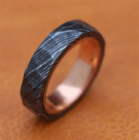 Wedding Bands Outlet by Handmade Wedding Band Engagement Copper In Damascus Outlet