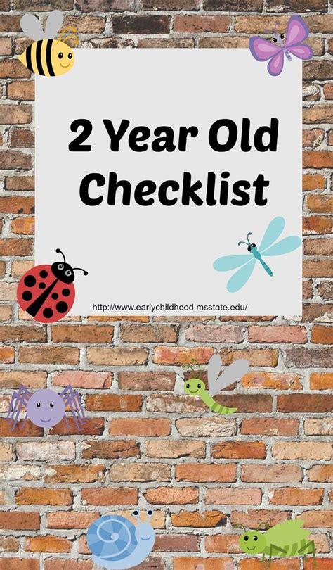 checklist for 2 year developmental skills preschool