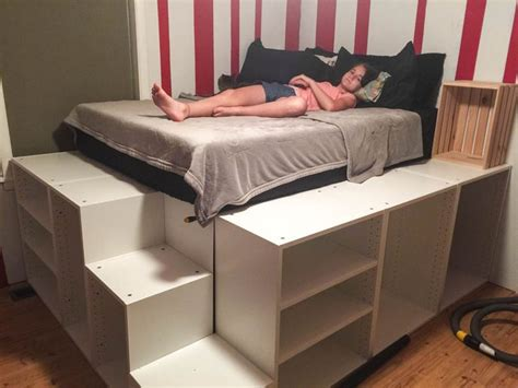 ikea hack platform bed with storage best 25 platform bed storage ideas on pinterest floor