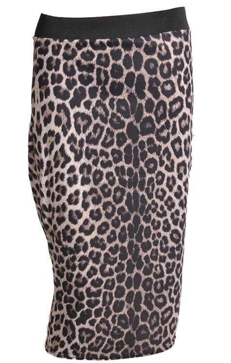 Print Midi Pencil Skirt leopard print midi pencil skirt