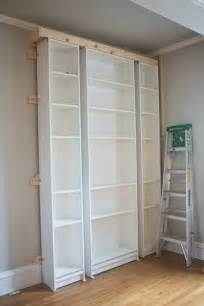 Billy Bookcases With Doors Laura S Living Room Ikea Billy Bookshelves Hack The