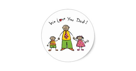 Sticker Happy Family Mobil Ignis we you family happy s day classic sticker zazzle