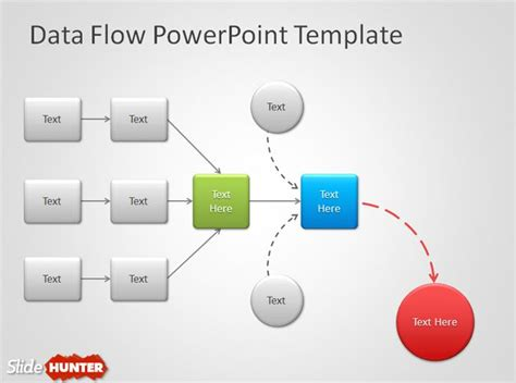 Free Data Flow Powerpoint Template Data Flow Diagram Template