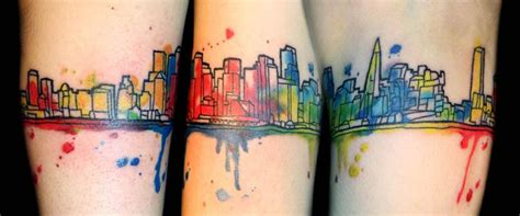 watercolor tattoos detroit 25 best ideas about skyline on nyc