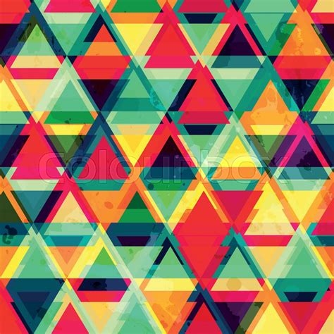 triangle pattern after effects hipster triangle seamless pattern with grunge effect