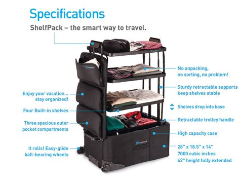 brilliant shelfpack is the suitcase for those who well