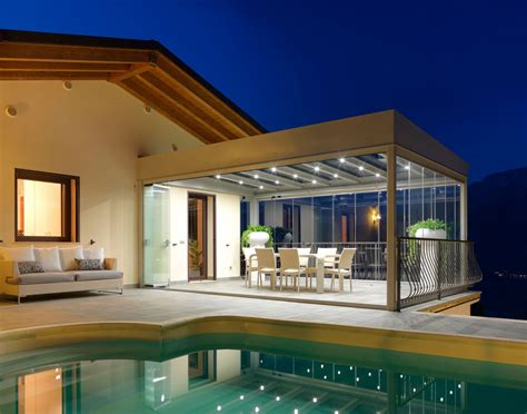 verande moderne luxury glass house veranda moderna cagis