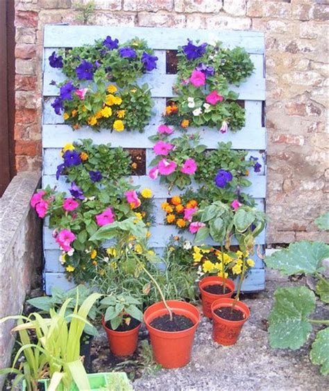 Vertical Flower Garden 8 Rev Pallet Ideas For Outdoors Pallet Furniture Plans