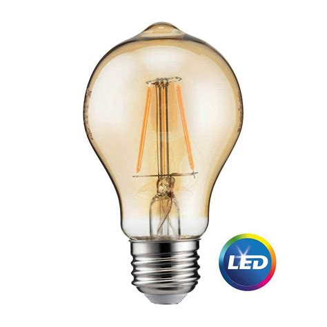 Philips Light Bulbs Led Philips 60w Equivalent Vintage Soft White A19 Dimmable Led Light Bulb 461632 The Home Depot