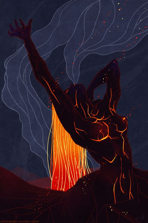 kim herbst illustration sketch dailies pele goddess of