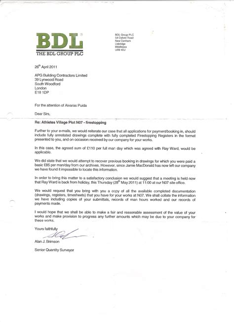 Customer Handover Letter Is It For The Building Society Contractor To Start