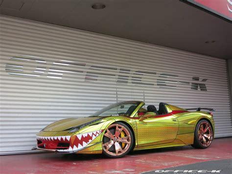 golden ferrari 458 ferrari 458 quot golden shark quot by office k is tokyo s most