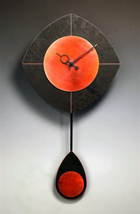 Pendulum L by Black Copper L Drop Pendulum Clock By Leonie Lacouette