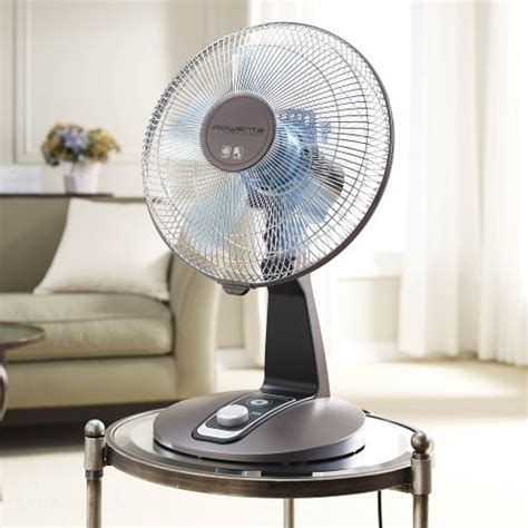 silent desk fan amazon rowenta vu2531 turbo silence oscillating 12 inch fan