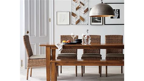 basque honey 82 quot dining table crate and barrel grey basque honey 82 quot dining table crate and barrel