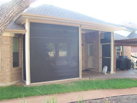 retractable screens and window walls traditional patio