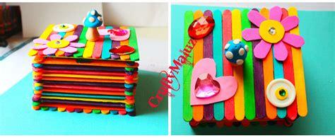 canastas de palitos madera de colores diy caja de palitos de madera manualidades f 225 ciles