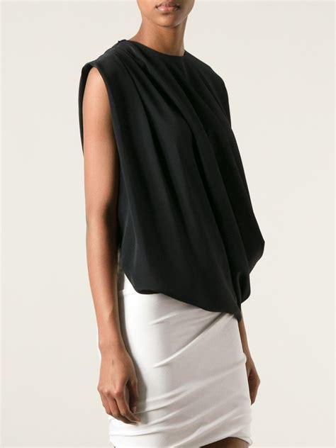 Blouse Asimetri B 1758 givenchy asymmetric draped blouse in black lyst