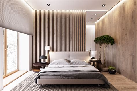 panelled wall divider bedroom design wooden wall designs 30 striking bedrooms that use the