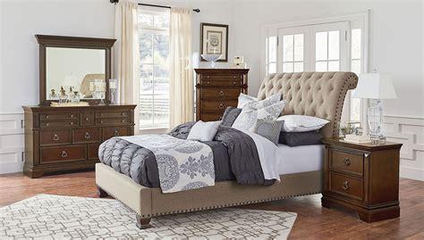 charleston upholstered bedroom set standard furniture furniture cart