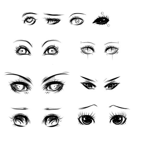 tutorial menggambar emo eyes ref by ryky on deviantart