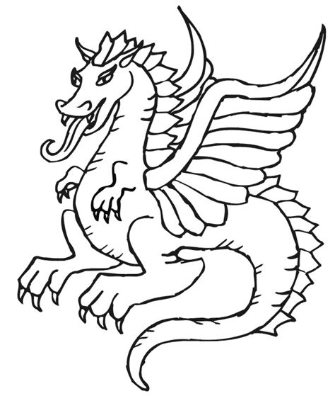 coloring pictures of flying dragons dragon coloring page beautiful flying dragon