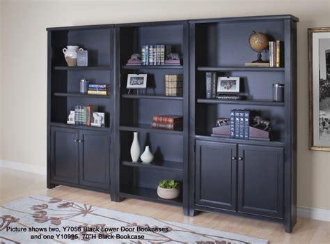 black wood veneer bookcases 48 quot h bookcase